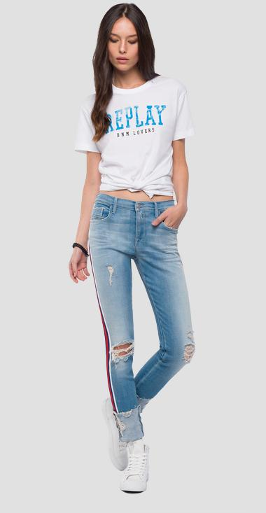 T-shirt with contrasting writing - Replay W3940G_000_20994_001_1