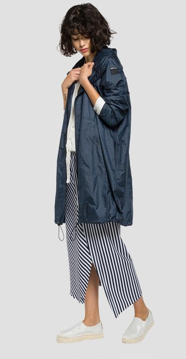 Long hooded jacket - Replay W7315_000_82698_087_1