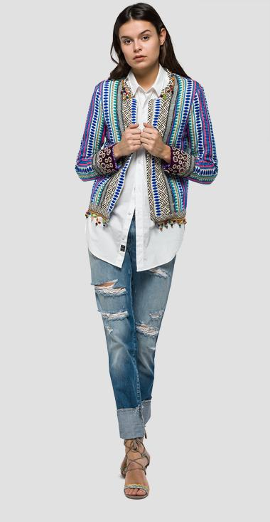 Zip-front patterned jacket - Replay W7329A_000_51932_010_1