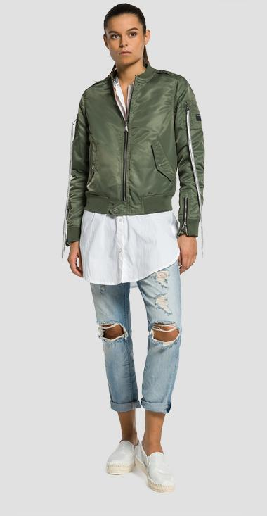 Reversible jacket with ribbed details - Replay W7335_000_82504_850_1