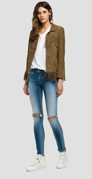 Suede fringe jacket - Replay W7346_000_82782_040_1