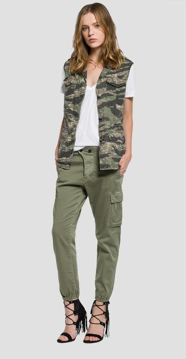 Camouflage vest with pockets - Replay W7362_000_71208_010_1