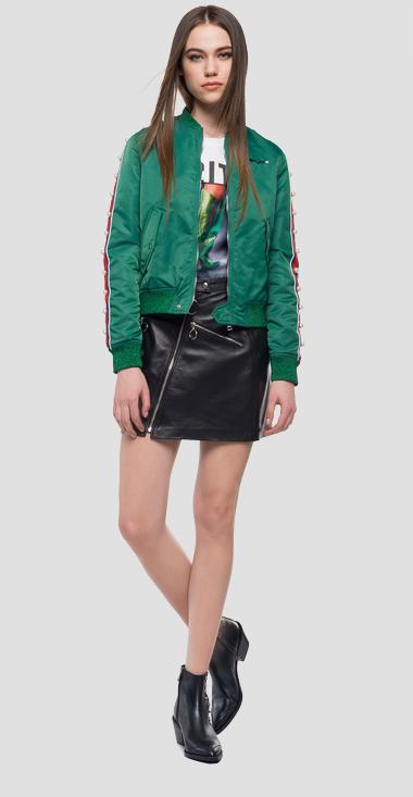 Technical bomber jacket stripes and pearls - Replay W7415_000_83118_895_1