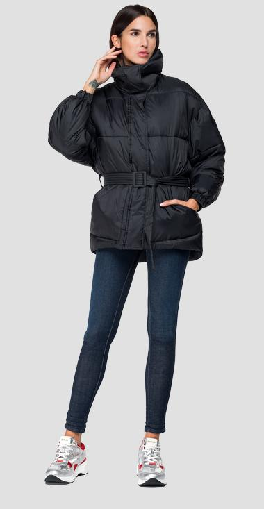 Padded jacket with belt - Replay W7492_000_83108_098_1