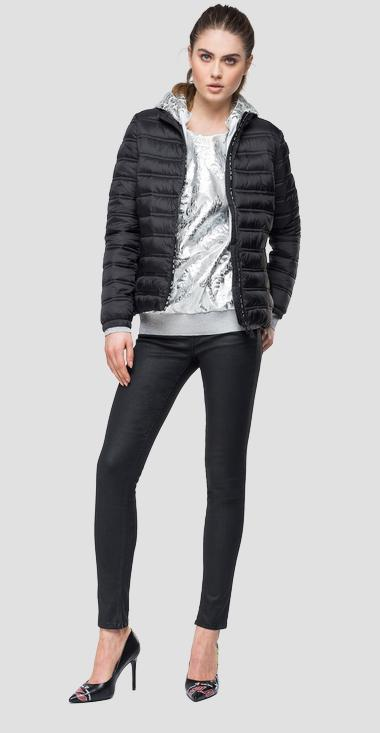 Padded jacket with logoed zipper - Replay W7496_000_83406_098_1