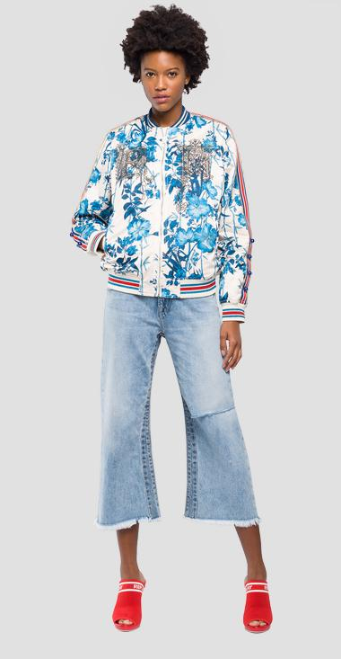 Bomber with floral print - Replay W7513_000_71732_010_1