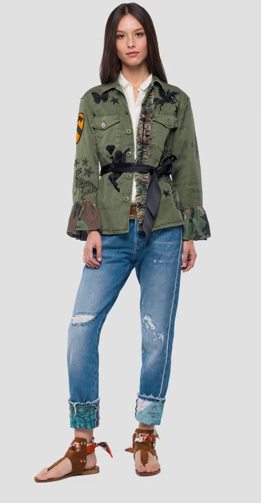 Army jacket with ruffles - Replay W7515_000_80799G_806_1