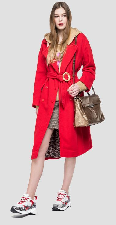 Classic coat with belt - Replay W7523_000_83532_010_1