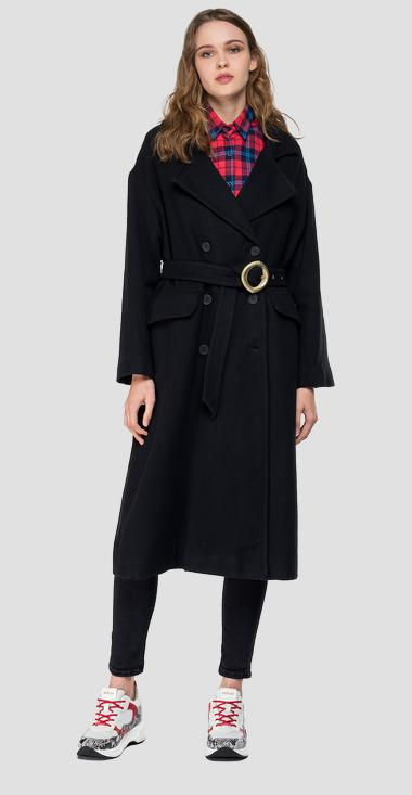 Classic coat with belt - Replay W7523_000_83532_098_1