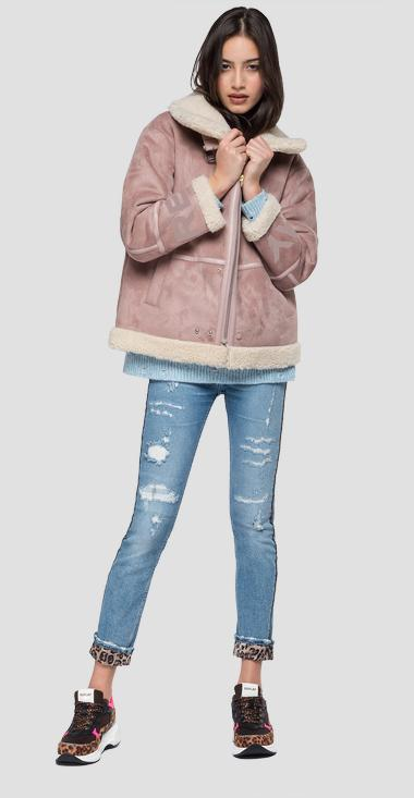 Eco-sheepskin jacket with suede effect - Replay W7533_000_83506_560_1