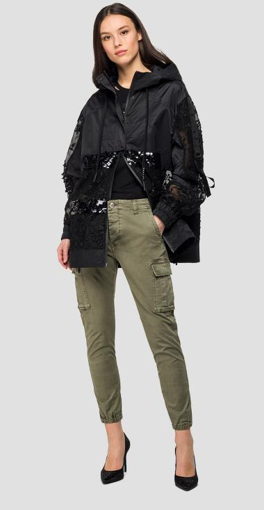 Jacket with embroidery and sequins - Replay W7553_000_10258_098_1