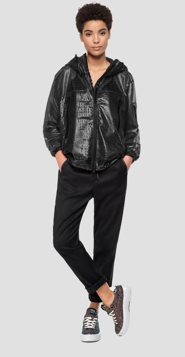 Jacket with crocodile print - Replay W7554A_000_83628_098_1