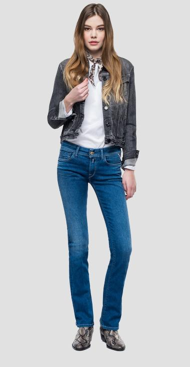 Denim jacket with raw cut - Replay W7560_000_199-526_097_1