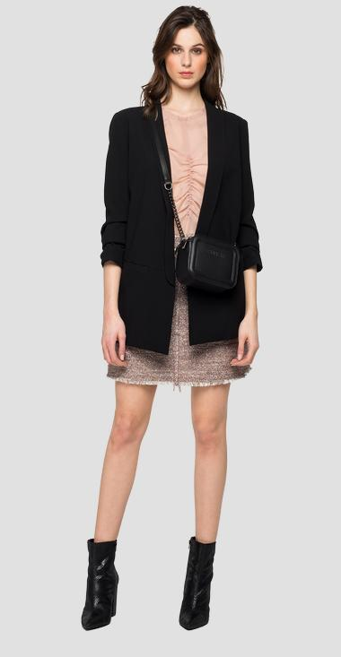 Blazer with 3/4 sleeves - Replay W7584_000_83874_098_1
