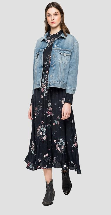 Rose Label denim jacket - Replay W7588_000_108-729_010_1