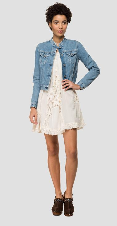 Used denim jacket with breakages - Replay W7593_000_110-618_009_1