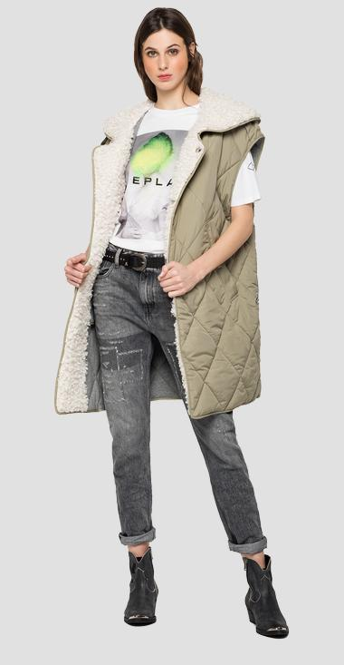 Recycled from Pet long vest - Replay W7605_000_83796_833_1