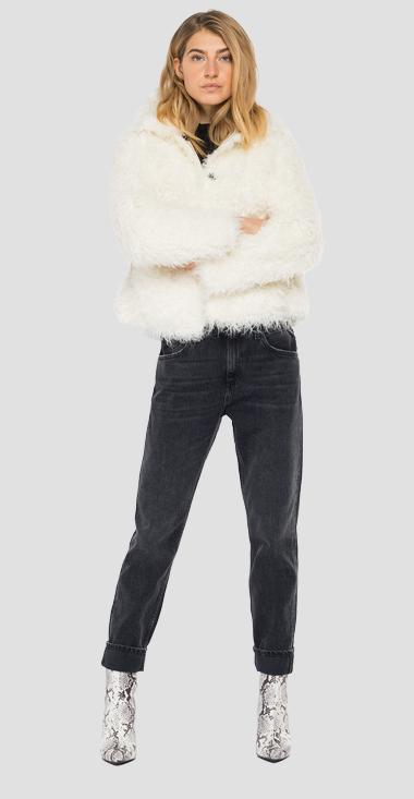 Eco fur jacket - Replay W7637_000_83868_011_1