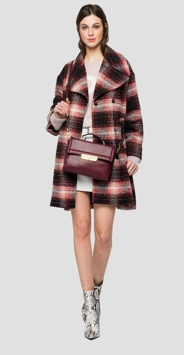Long coat with tartan print - Replay W7645A_000_52320_010_1