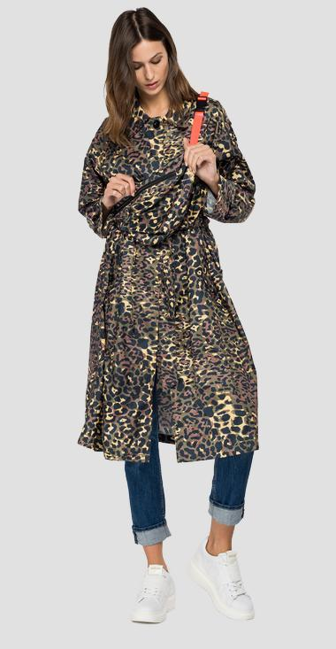 Animalier long jacket with waist bag - Replay W7652_000_72270_010_1