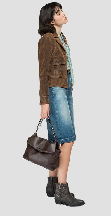 Nappa leather jacket with lapels - Replay W7687_000_84278_010_1