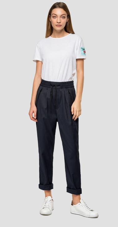 Stretch trousers with drawstring - Replay W8505_000_50575_010_1