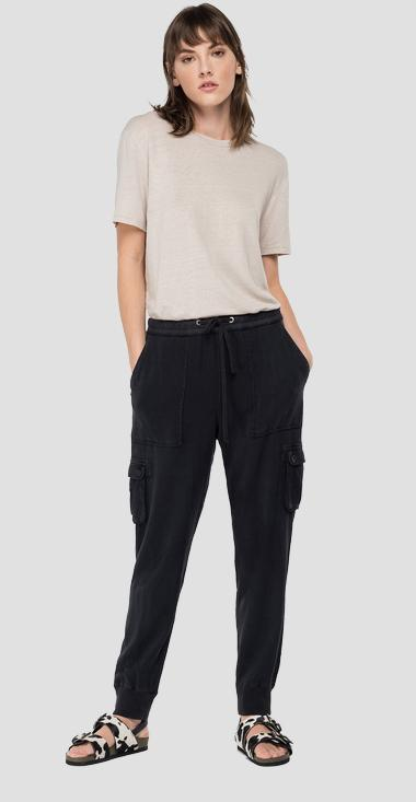 REPLAY ESSENTIAL comfort fit jogger pants - Replay W8520_000_84059G_998_1