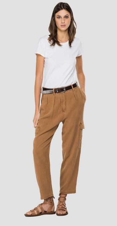 REPLAY Essential trousers in linen and viscose - Replay W8524_000_84059G_502_1