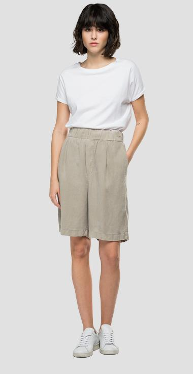 REPLAY Essential bermuda shorts in linen and viscose - Replay W8526_000_84059G_603_1