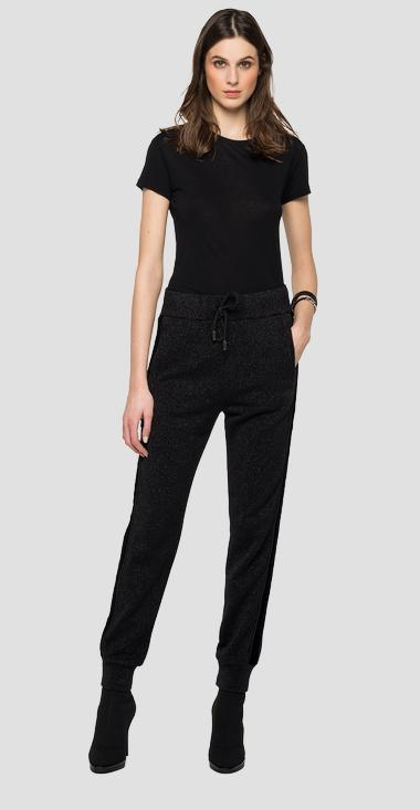 Cotton trousers with lurex - Replay W8530A_000_22672_040_1