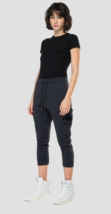 Baggy fit crop jogger pants - Replay W8562_000_23190P_099_1