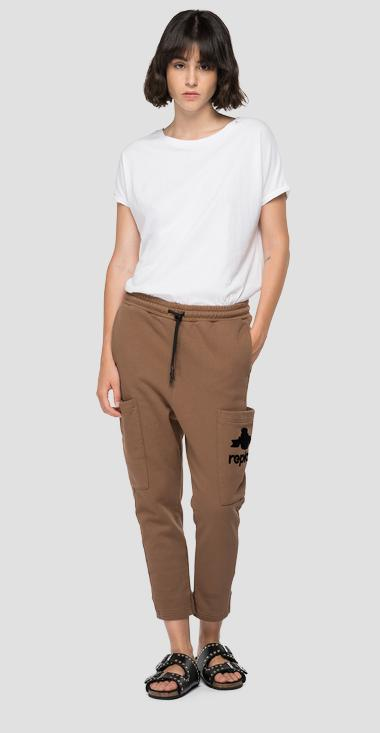 Baggy fit crop jogger pants - Replay W8562_000_23190P_728_1
