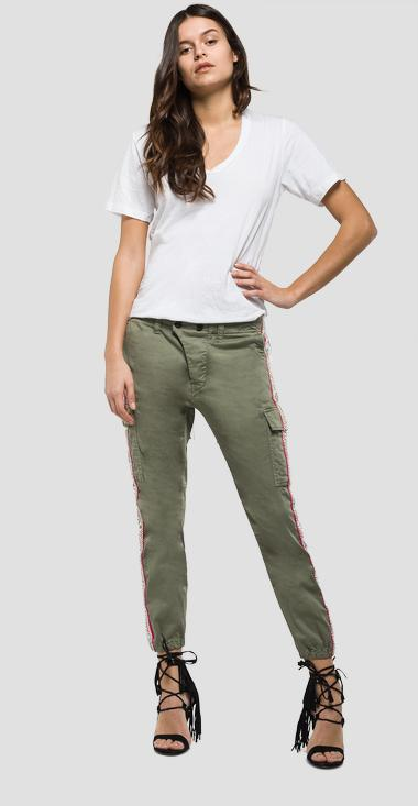 Trousers with side panels - Replay W8769C_000_80655G_835_1