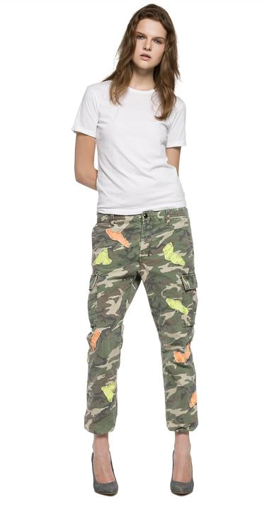 camouflage pants with patch replay. Black Bedroom Furniture Sets. Home Design Ideas