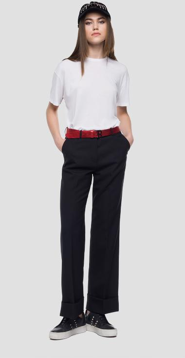 Palazzo trousers logoed stripe - Replay W8781_000_80701_098_1