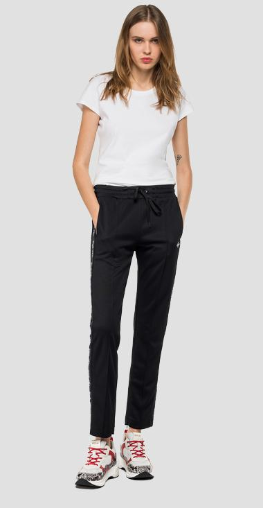 Sporty trousers with side stripes - Replay W8798B_000_22610_098_1