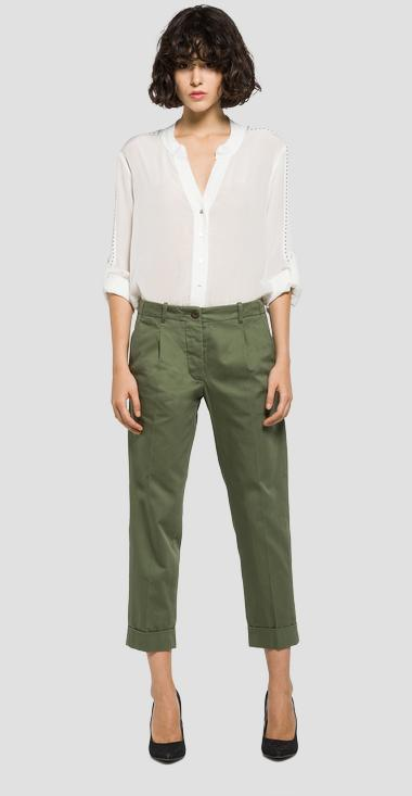Ankle-length creased trousers - Replay W8802_000_82724F_314_1