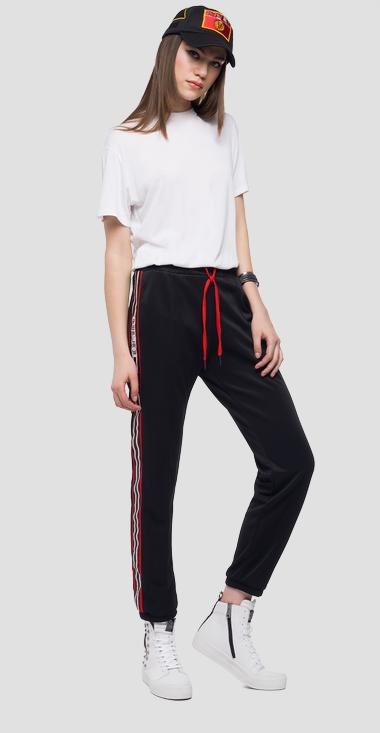 Jogger trousers stripe and logo - Replay W8809_000_22610_098_1