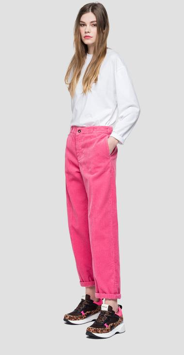 Baggy velvet trousers - Replay W8812A_000_83434_366_1
