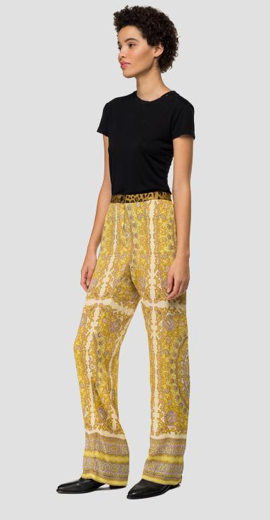 Paisley crepe trousers - Replay W8828_000_72028_010_1