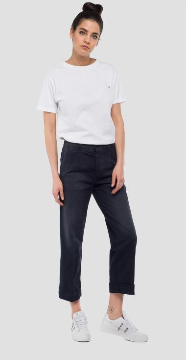 Overdyed striped chino trousers - Replay W8836_000_71541_010_1