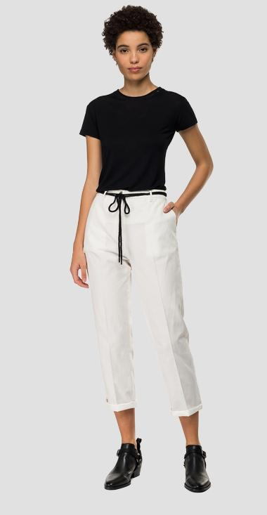 Twill crop trousers - Replay W8840A_000_83670G_001_1