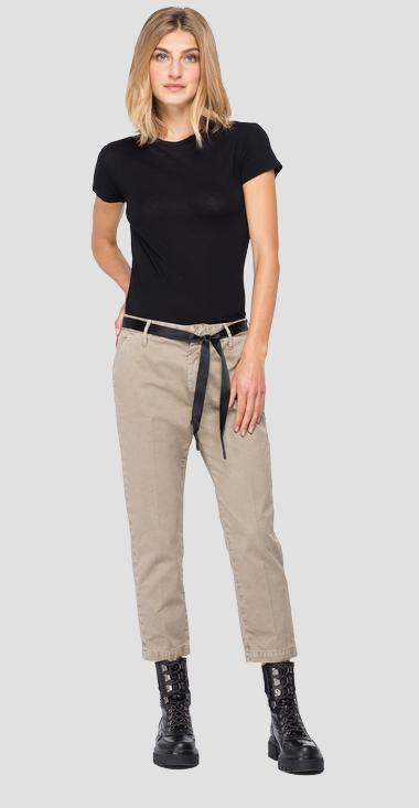 Cotton crop trousers - Replay W8841D_000_83948_326_1