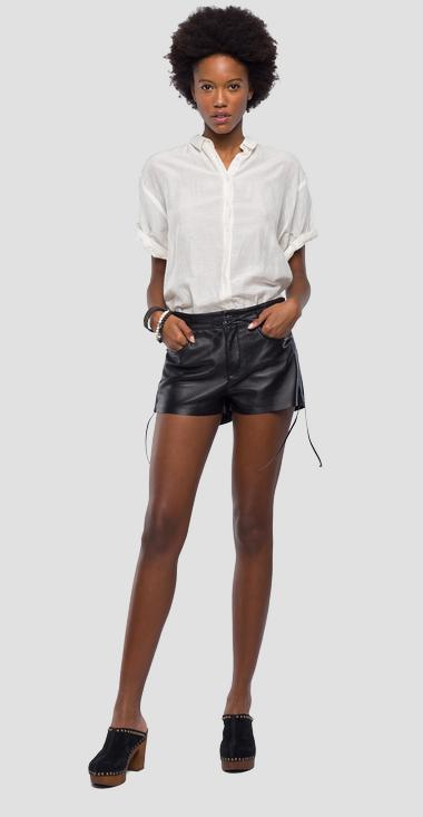 Leather shorts - Replay W8849A_000_83254_010_1