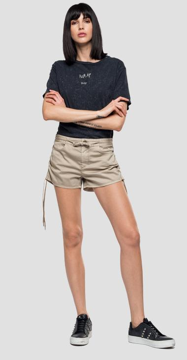 Shorts with drawstring - Replay W8849_000_80655G_769_1