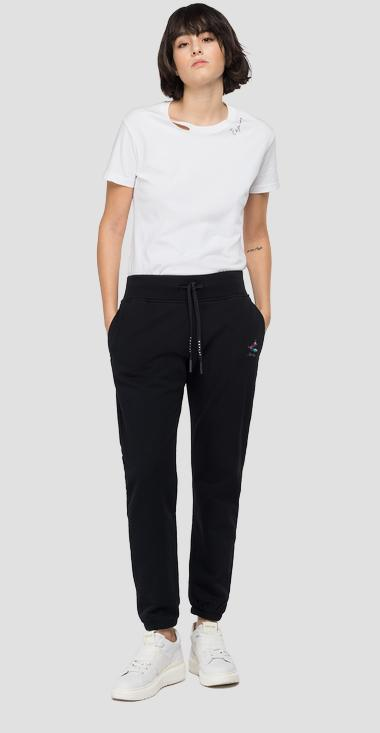 ROSE LABEL jogger pants in cotton - Replay W8855C_000_23158P_098_1