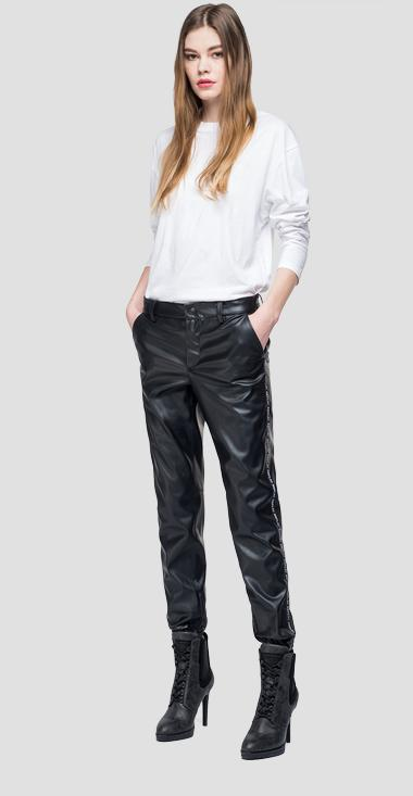 Eco-leather trousers - Replay W8864_000_83072_098_1