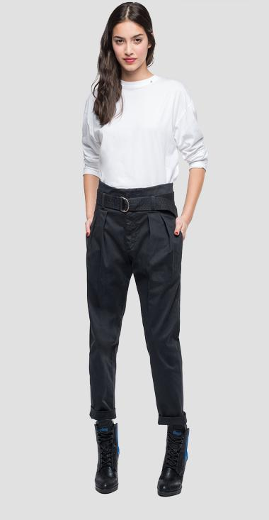 Trousers with belt - Replay W8866_000_80629_998_1