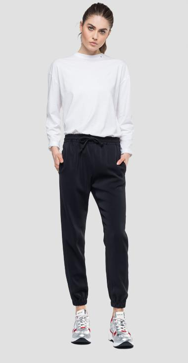 Comfy trousers with drawstring - Replay W8867_000_83514_098_1