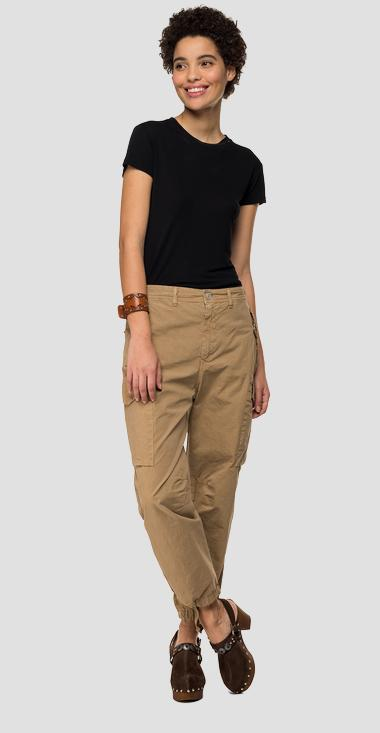 garment dyed cargo trousers - Replay W8888_000_8366932_215_1